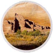 Navajo Ruins Round Beach Towel