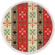 Navajo Style Pattern Round Beach Towel