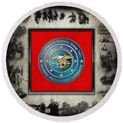 Naval Special Warfare Group Two - N S W G-2 - Over Navy S E A Ls Collage Round Beach Towel