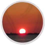 Navarre Beach Sunset Round Beach Towel