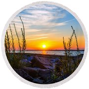 Navarre Fl Sunset 2014 07 29 A Round Beach Towel