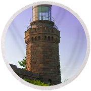 Navesink Twin Lights Lighthouse Round Beach Towel