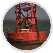Navigational Bell Round Beach Towel