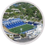Navy Marine Corps Memorial Stadium Round Beach Towel
