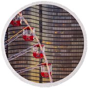 Navy Pier Wheel Chicago Round Beach Towel
