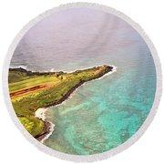 Nawiliwili Lighthouse - Aerial Round Beach Towel