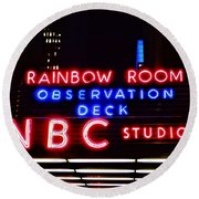 Nbc Studios Round Beach Towel