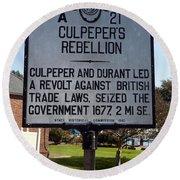 Nc-a21 Culpepers Rebellion Round Beach Towel