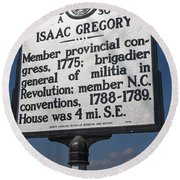 Nc-a30 Isaac Gregory Round Beach Towel