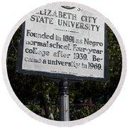 Nc-a37 Elizabeth City State University Round Beach Towel