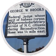 Nc-a54 George W. Brooks Round Beach Towel