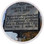 Nc-a61 Joseph C. Price 1854-1893 Round Beach Towel