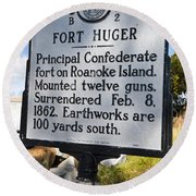 Nc-b2 Fort Huger Round Beach Towel