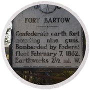 Nc-bbb2 Fort Bartow Round Beach Towel