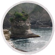Neah Bay At Cape Flattery II Round Beach Towel