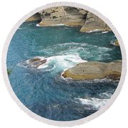 Neah Bay At Cape Flattery Round Beach Towel