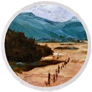 Near La Veta Round Beach Towel