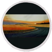 Near Moscow Round Beach Towel