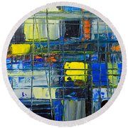 Near The Sunrise - Abstract Original Painting - Abwgc1 Round Beach Towel