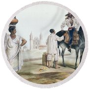 Nebel Mexican Peddlers Round Beach Towel