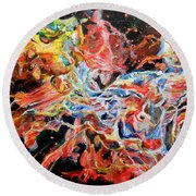 Nebula Round Beach Towel
