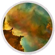 Nebula Cloud Round Beach Towel