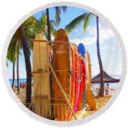 Need A Surfboard Round Beach Towel