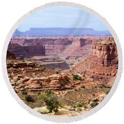 Needles Grand Canyon Round Beach Towel by Adam Jewell