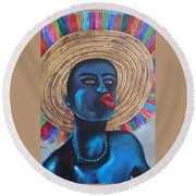 Negrito In Carnival Round Beach Towel