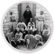 Negro Baseball Round Beach Towel