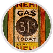 Nehi And Gas Sold Here Round Beach Towel