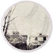 Neighborhood Round Beach Towel