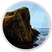 Neist Point Round Beach Towel