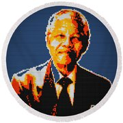 Nelson Mandela Lego Pop Art Round Beach Towel