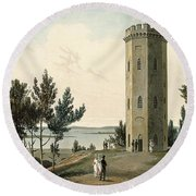 Nelsons Tower, Forres, From A Voyage Round Beach Towel