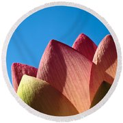 Nelumbo Nucifera Round Beach Towel