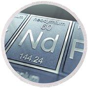 Neodymium Chemical Element Round Beach Towel