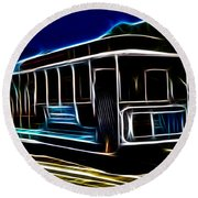 Neon Cable Car Round Beach Towel
