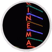 Neon Cinema Round Beach Towel
