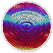 Neon Water Puddle Round Beach Towel