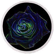 Neon Rose 5 Round Beach Towel