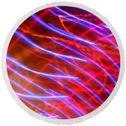 Neon Swell Round Beach Towel