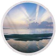 Neptune Step. Round Beach Towel by Sean Davey