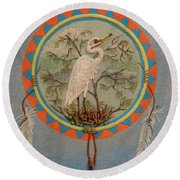 In Balanced Contemplation - Hega'ho Round Beach Towel