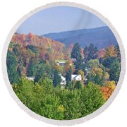 Nesting In The Hills Round Beach Towel