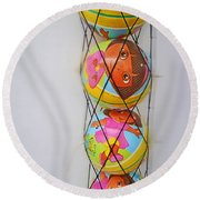 Net Balls Round Beach Towel
