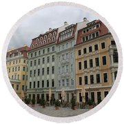 Neumarkt - Dresden - Germany Round Beach Towel