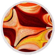 Neutral Swirls Fractured Round Beach Towel