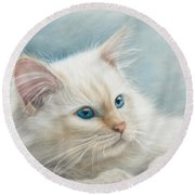 Neva Masquerade Cat Round Beach Towel