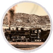 Nevada Northern Railway Round Beach Towel